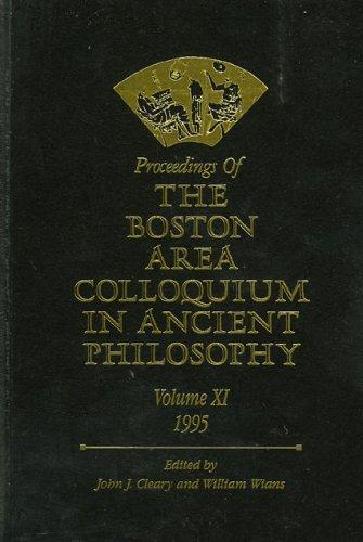 Download Proceedings of the Boston Area Colloquium in Ancient Philosophy