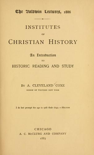 Institutes of Christian history