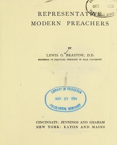 Download Representative modern preachers