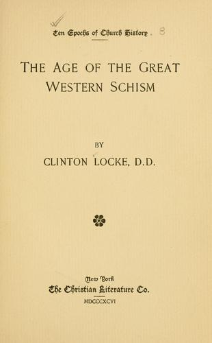 Download The age of the great western schism