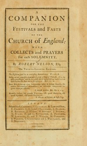 Download Companion for the festivals and fasts of the Church of England with collects and prayers for each solemnity.