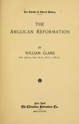 Download The Anglican reformation
