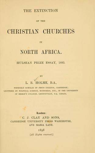 Download The extinction of the Christian churches in North Africa