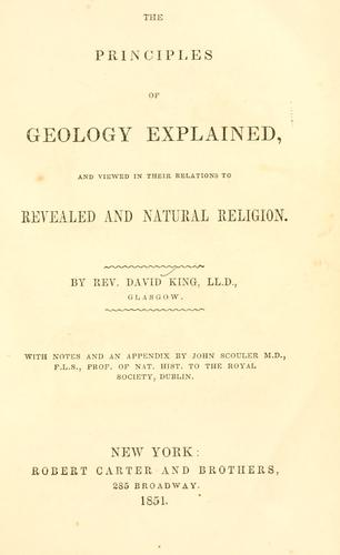 Download The principles of geology explained, and viewed in their relations to revealed and natural religion.