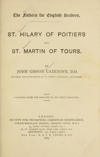 Download St. Hilary of Poitiers and St. Martin of Tours.