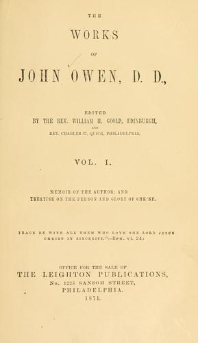 Download The works of John Owen