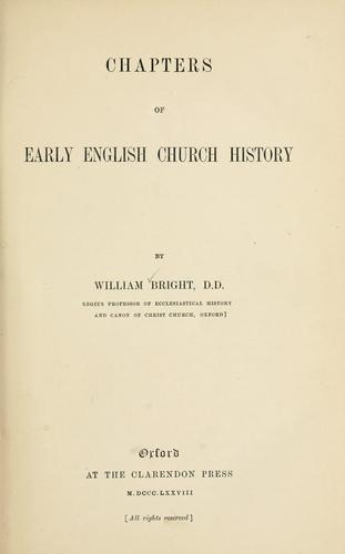 Chapters of early English church history