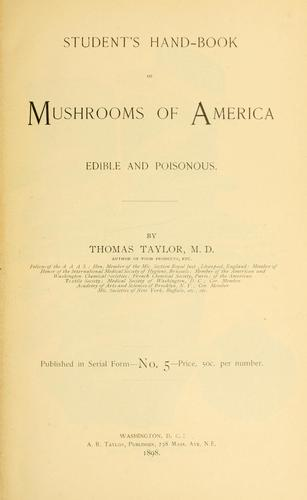 Download Student's hand-book of mushrooms of America edible and poisonous.