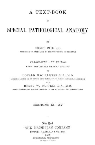 Download A text-book of special pathological anatomy
