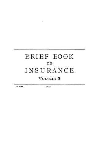 Download Briefs on the law of insurance