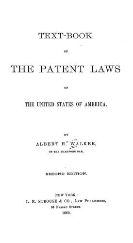 Download Text-book of the patent laws of the United States of America