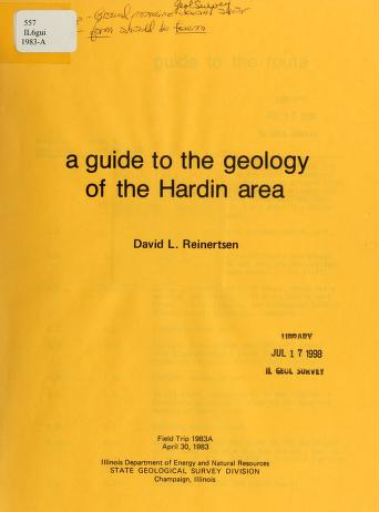 A guide to the geology of the Hardin area by David L. Reinertsen