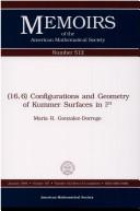 (16,6) configurations and geometry of Kummer surfaces in P3 by Maria R. Gonzalez-Dorrego