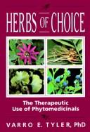 Herbs of choice by Varro E. Tyler