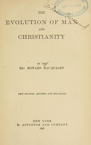 The evolution of man and Christianity